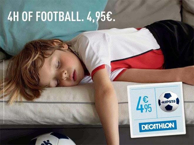 Decathlon niños cansados fútbol