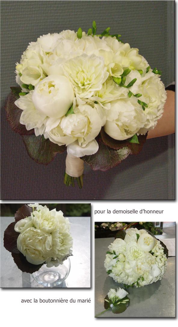 Pivoine mariage bouquet de mari e en pivoine - Bouquet pivoine mariage ...