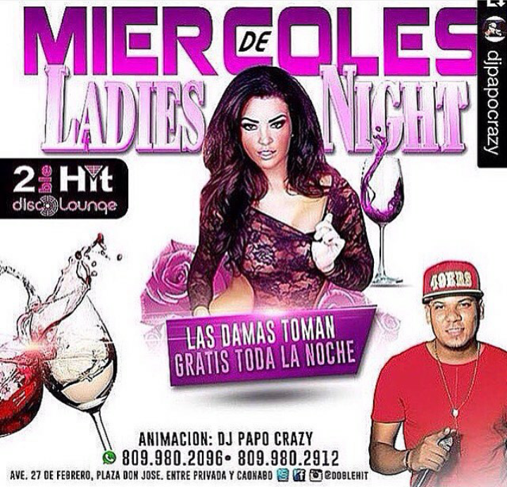 MIERCOLES DE DAMAS EN DOBLE HIT BAR & LOUNGE
