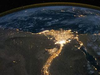 Дельта Нила ночью