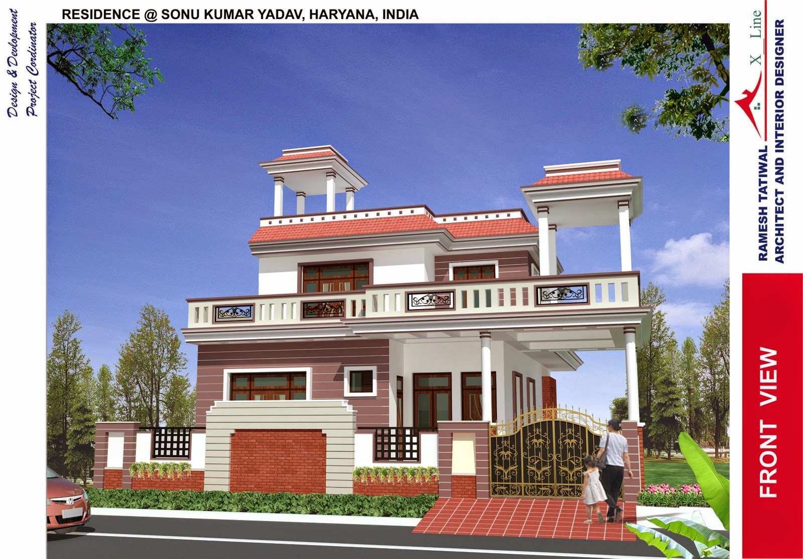 Indian architect house model