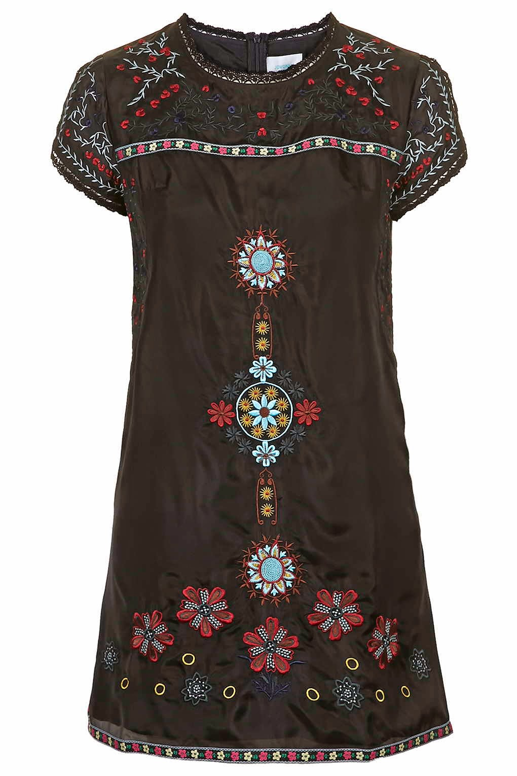 jovonna black embroidered dress, black silk embroidered dress,