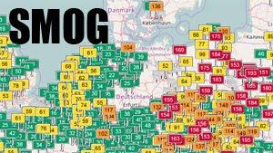 SMOG - Mapa zanieczyszczenia