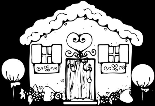 Gingerbread House Coloring Page Disney Coloring Pages