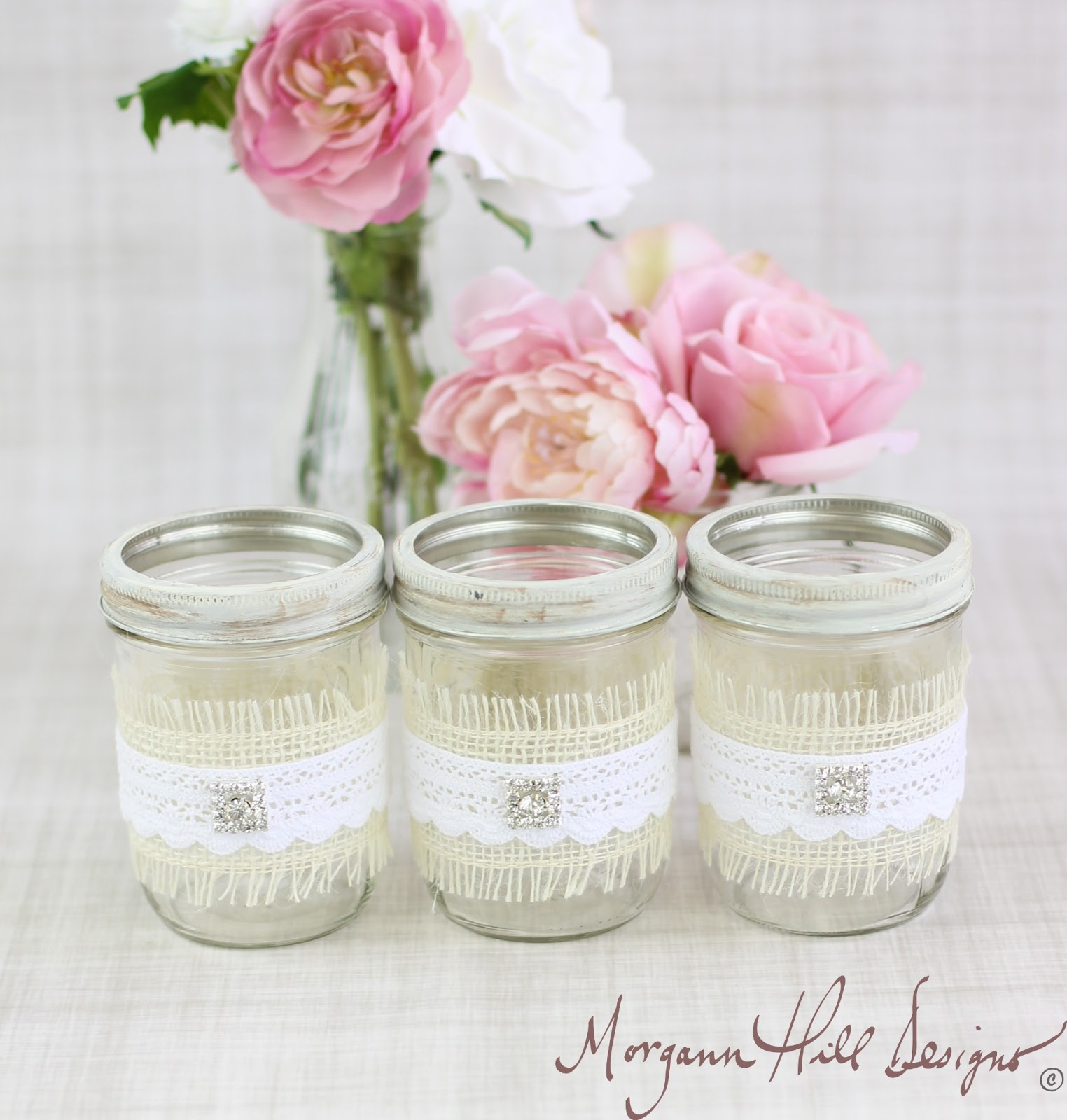 Country Wedding Mason Jars: Morgann Hill Designs: Mason Jar Wedding Centerpieces Vases