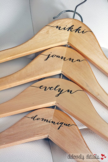 Pixie Dust Bride: Personalized Wedding Hangers from Delovely Details