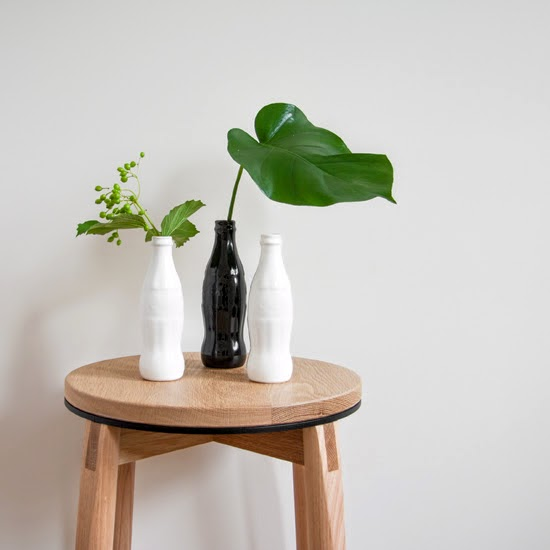 Safari Fusion blog | Soda Bottle Vase | Ceramic bottle vase glazed white or black by Safari Fusion www.safarifusion.com.au