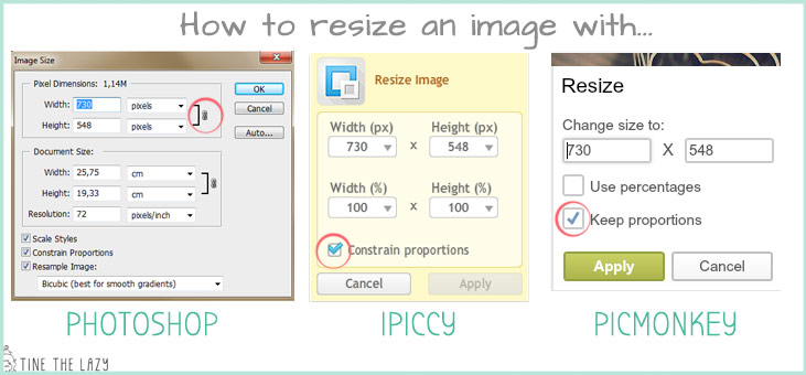 how to resize an image with Photoshop, Ipiccy or Picmonkey