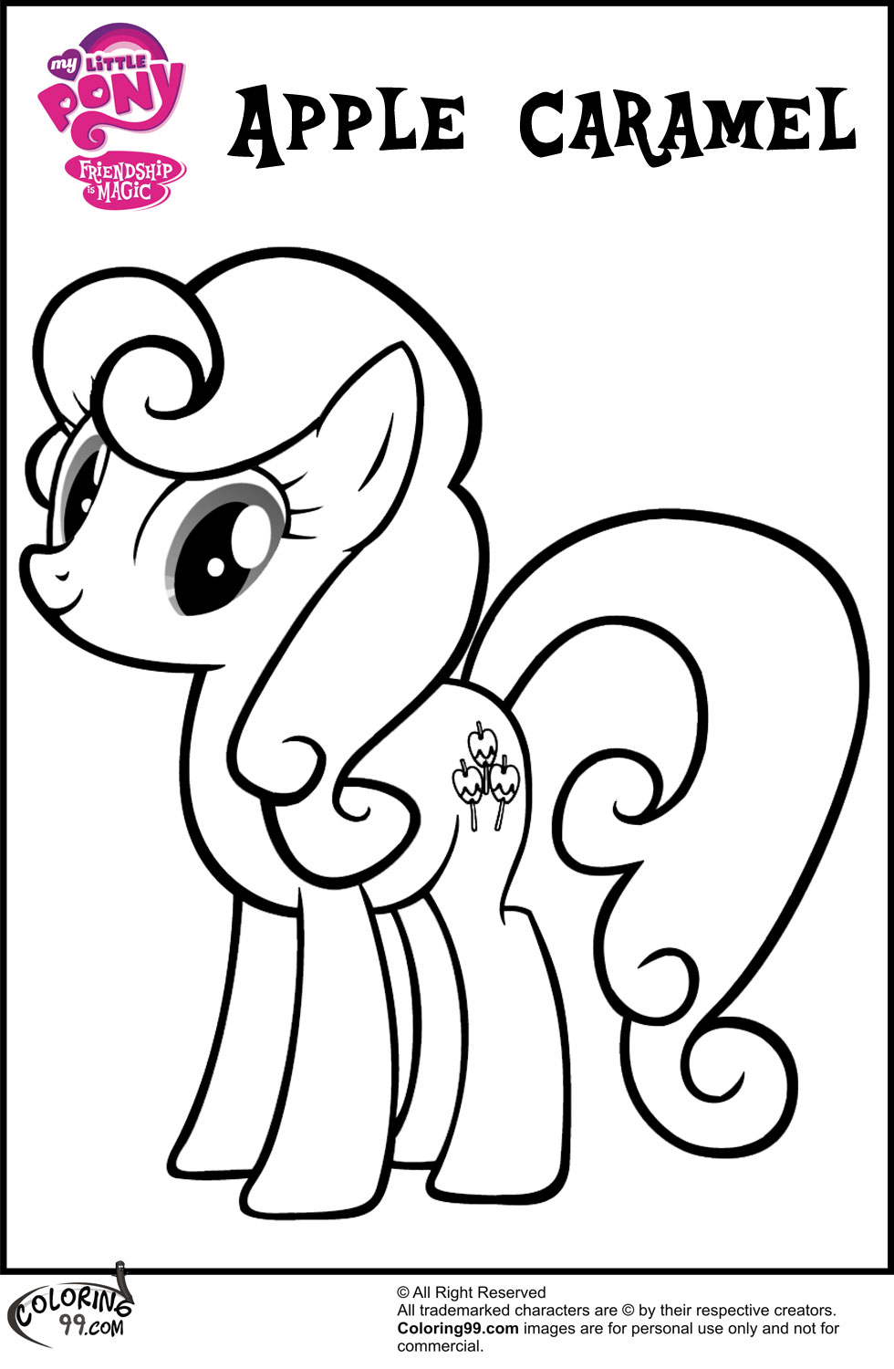 My Little Pony Names Coloring Pages : Mlp apple family coloring pages minister