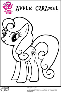 apple caramel coloring pages