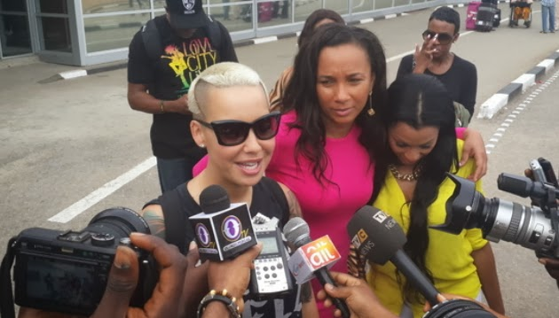 amber rose in lagos nigeria