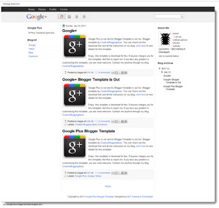 Template Blog Google Plus