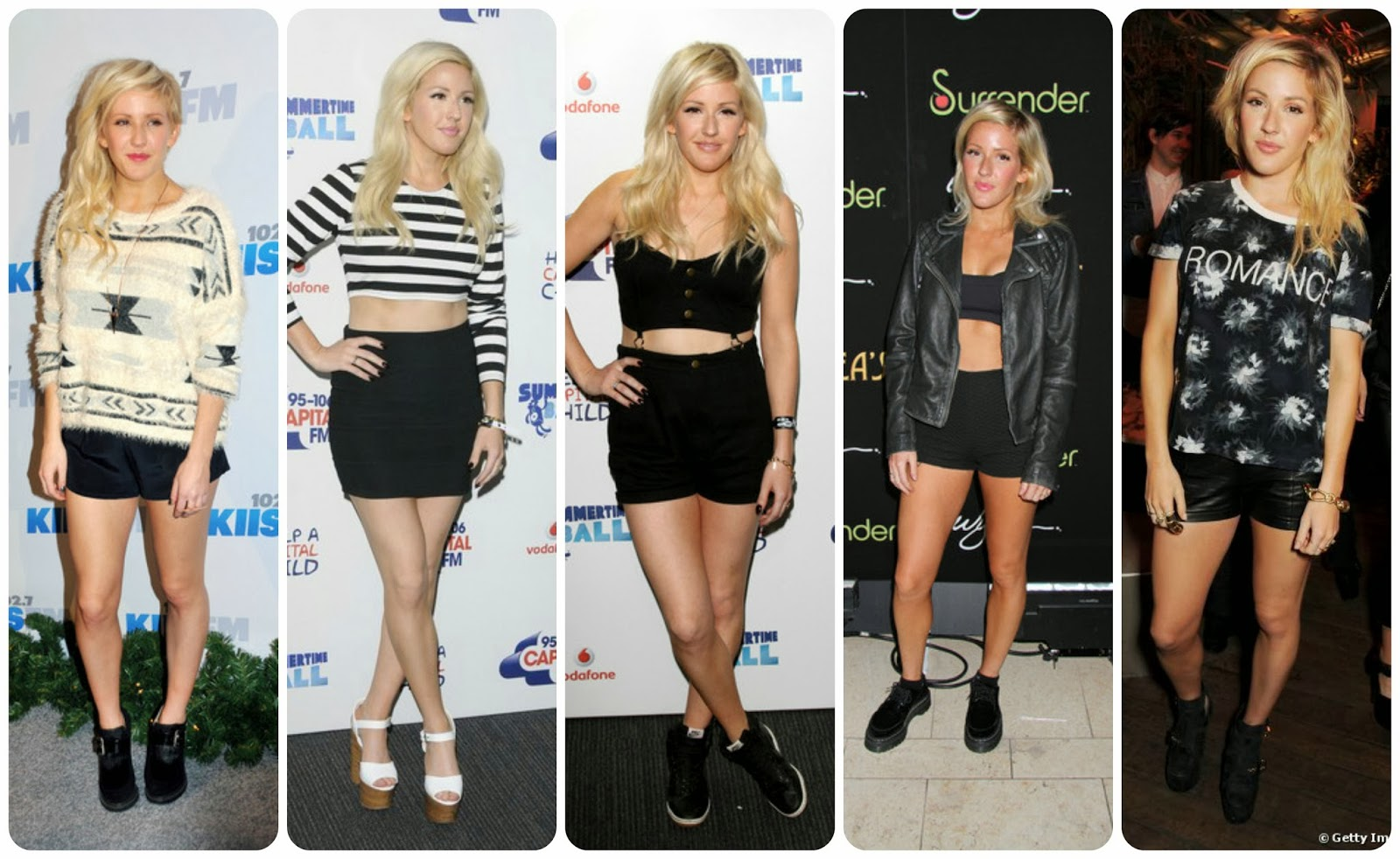 Ellie Goulding - Tomboy, Crop-top, Short-short