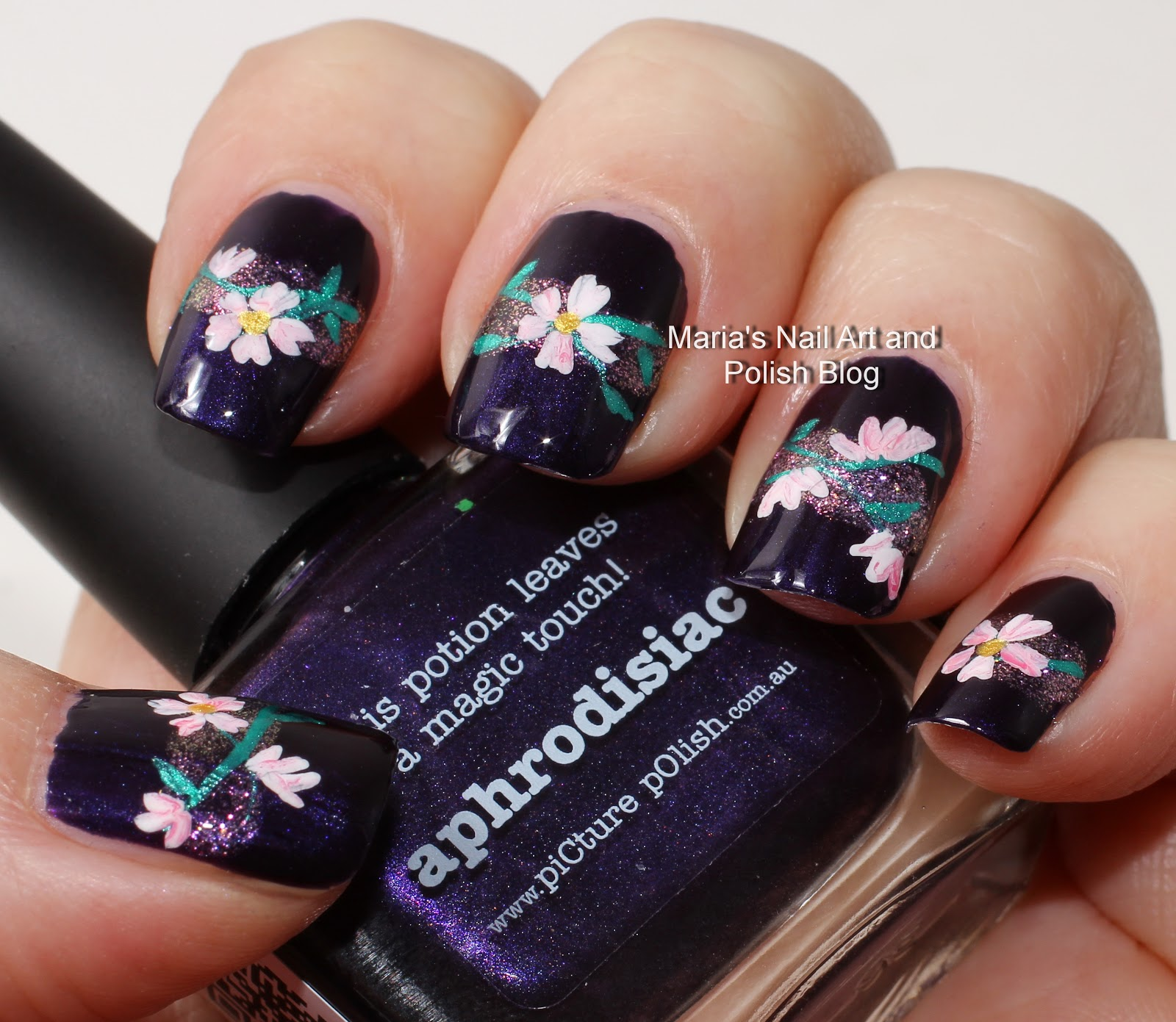Marias Nail Art And Polish Blog Subtle Floral Nail Art On: Marias Nail Art And Polish Blog: Aphrodisiac Flowers