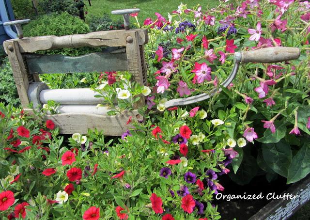 Laundry Themed Wheelbarrow Container Gardens