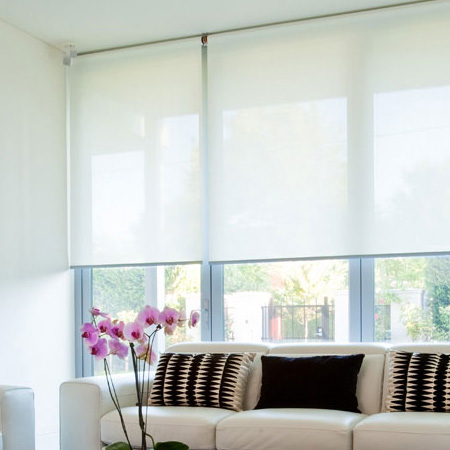 Roller blinds for window interior design ideas for Blind ideas for large windows