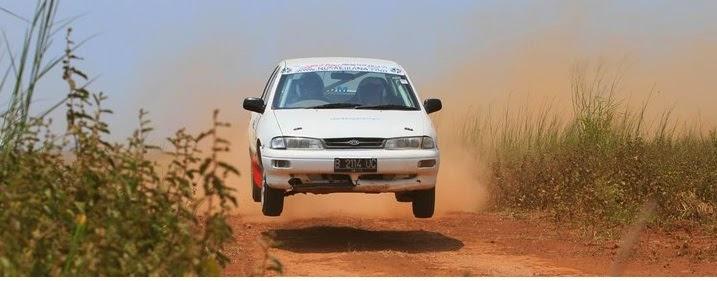 Mobil Timor di ajang rally nasional tahun 90-an