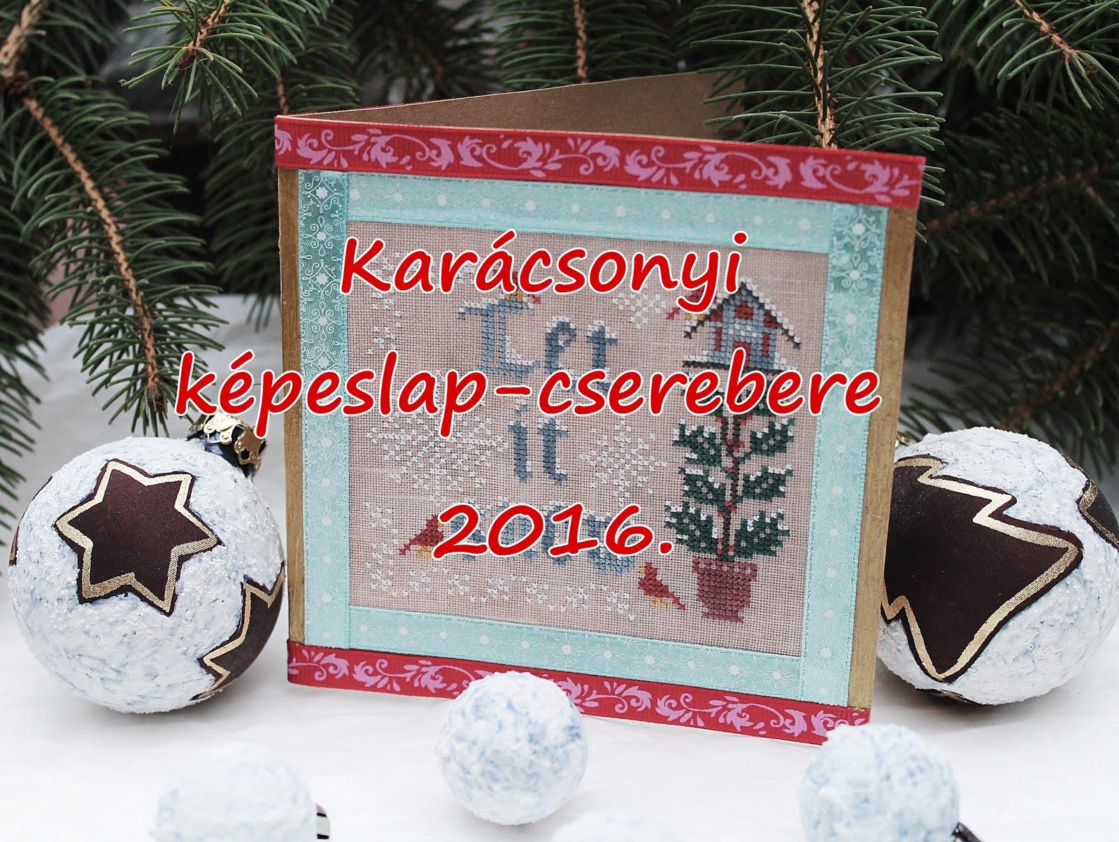 Karácsonyi képeslap-cserebere 2016.