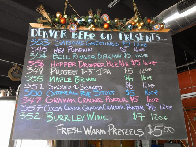 Denver Beer Co taplist 011014