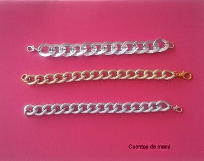 Cadena dorada plata