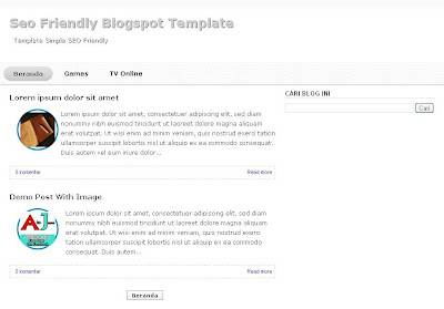 Free Template SEO Friendly Blogger