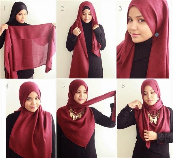 suatu saat anda lupa dengan tutorial cara memakai jilbab segi empat ...
