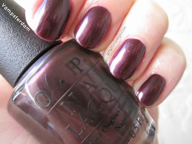 OPI nail polish, Vampsterdam, girlythingsby_e