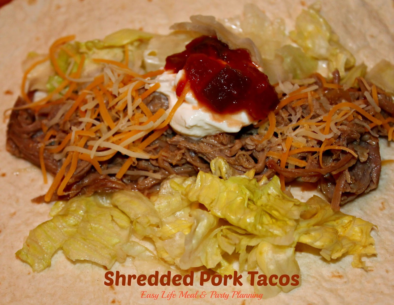 Easy Life Meal and Party Planning: Pulled Pork Soft Tacos
