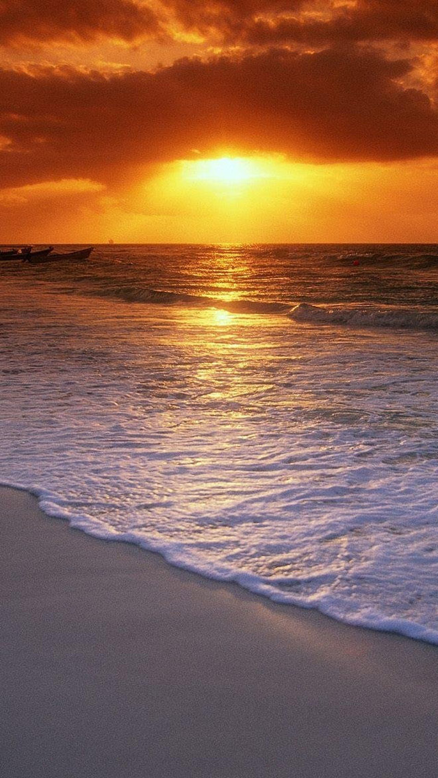 Free Download Ocean Beach Sunset Hd Iphone 5 Wallpapers Part One
