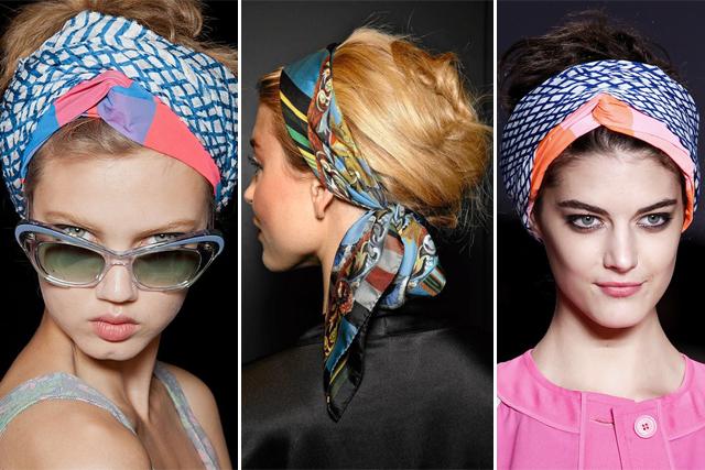 Défilé foulards tendance