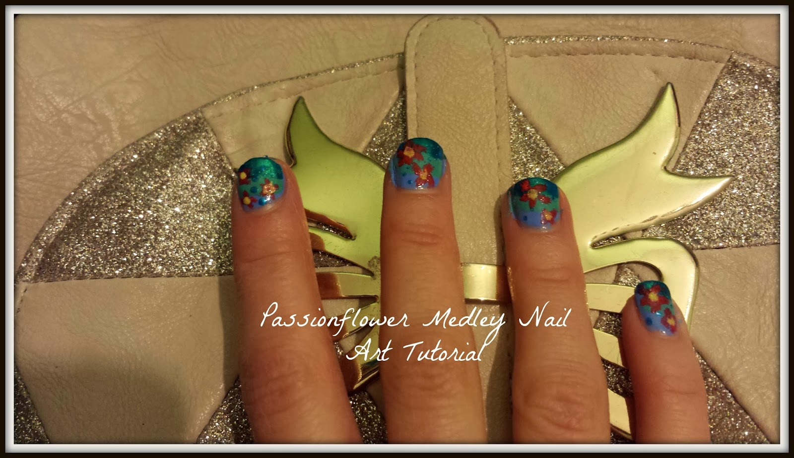 Passion flower medley nail art makeover inspired by boots beauty painting your nails can become more then a much loved past time with creative nail art combining a range of colours with a unique look passion flower izmirmasajfo