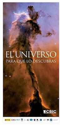 """Folleto de la exposición """"El Universo para que lo descubras""""."""