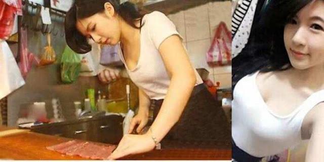 Zhang Caijie Gadis Penjual Daging Super Cantik