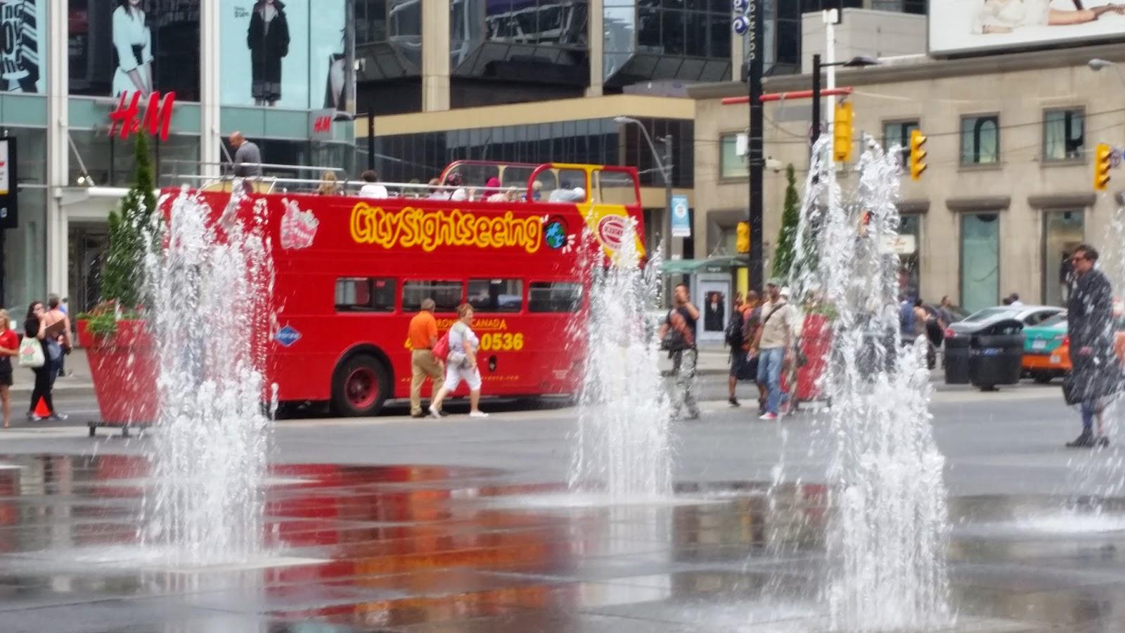 Sightseeing bus in Toronto