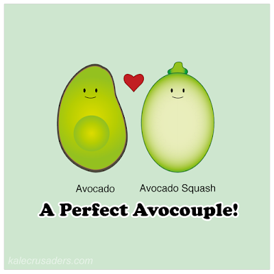 Avocado + Avocado Squash:  A perfect avocouple!