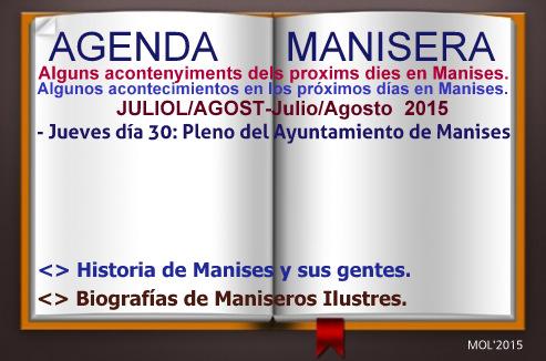 AGENDA MANISERA, SEMANA 31 DE 2015