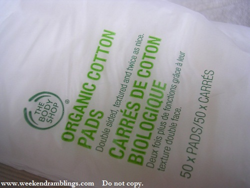 tbs the bodyshop organic cotton pads square reviews chizu saeki lotion mask