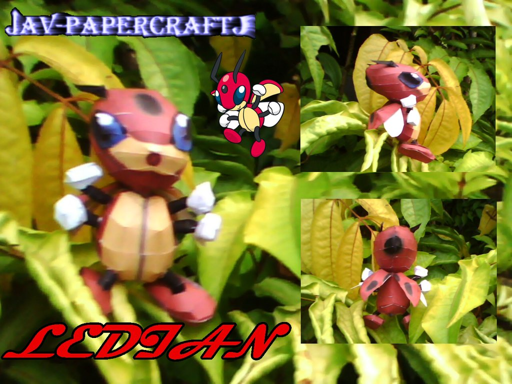 Pokemon Ledian Papercraft