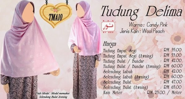 candy pink baju jubah muslimah