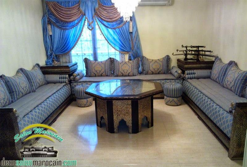 Salon marocain jaune et bleu ~ Solutions pour la décoration ...