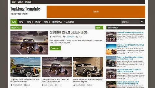 Download Template Topmagz Blogger Template