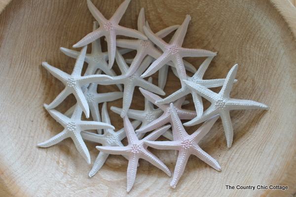 spray painted starfish