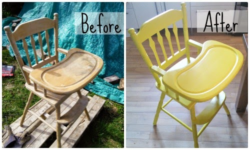 Before and After High Chair - Our Handmade Home