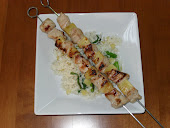 Pork Skewers with Pineapple-Scallion Rice