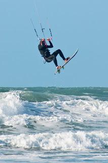 Kite surfing fistral beach