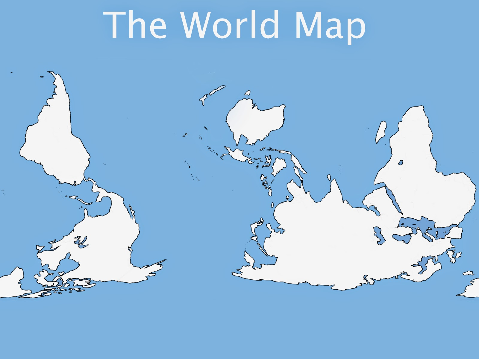 The World Map NonEurocentric NonImperialistic Version - Us centric map