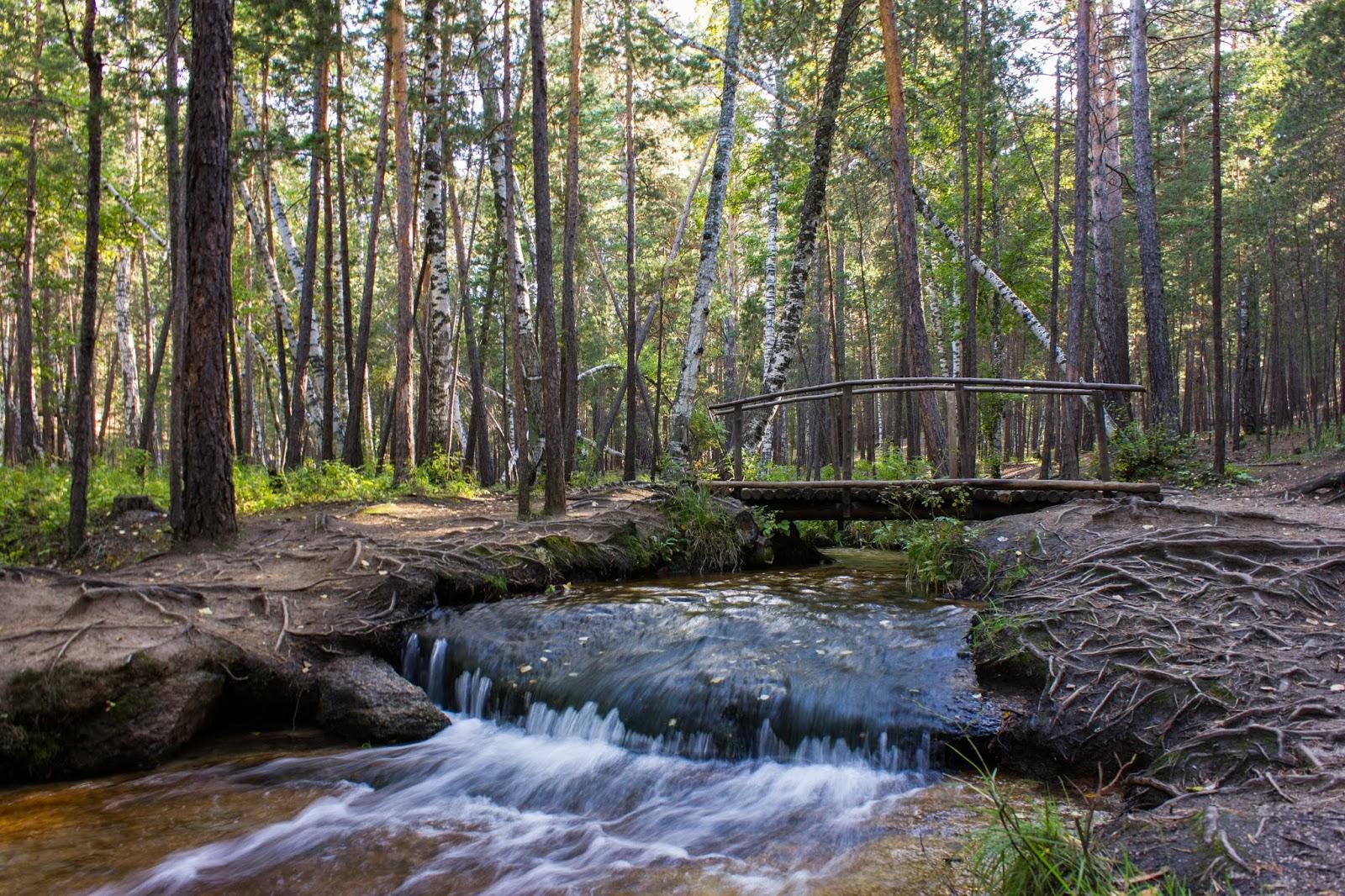 Казахстан, Боровое, Бурабай, Маленький водопад, Имантаевский ключ
