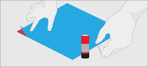 Pegar los trozos para el remolino de papel