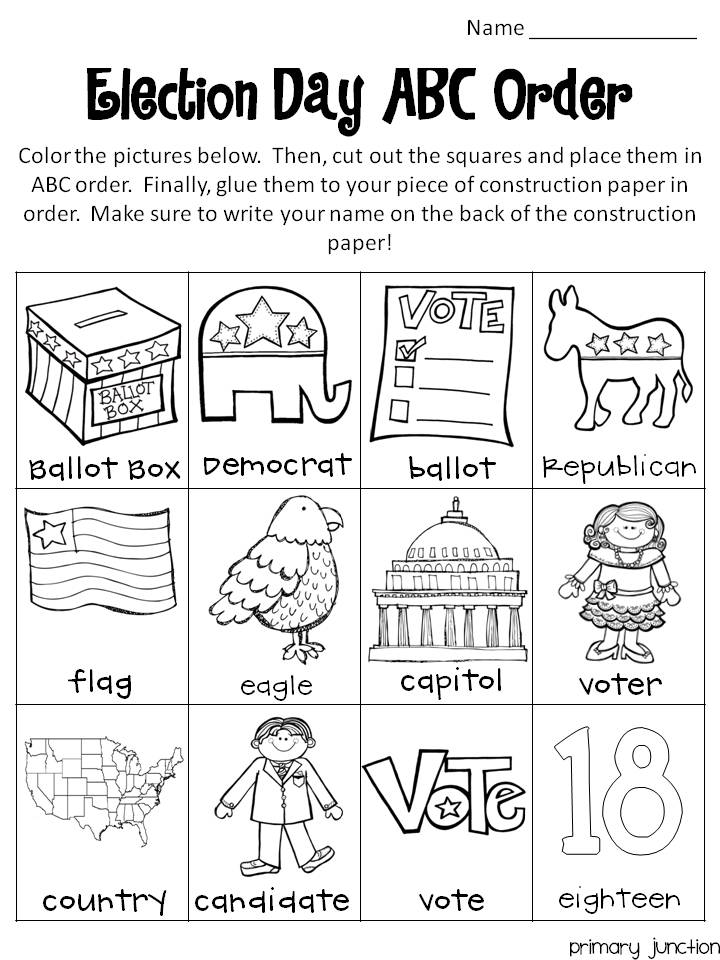 coloring pages election day - photo#32