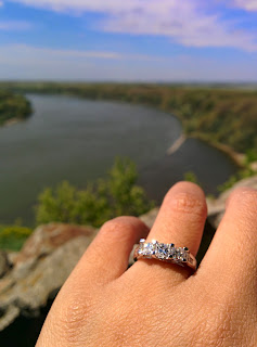 My ring, with a shot of the Danube and Morava Rivers in the background